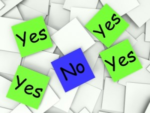 Having problems saying no? Portland life coaching.